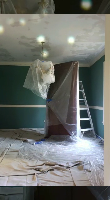 the preparing for the pocorn ceiling removal